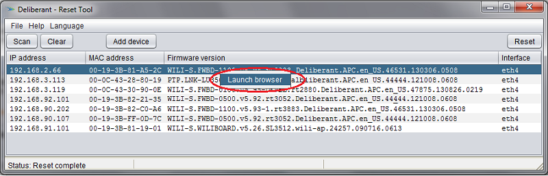 APC: How to reset the administrator password? - LigoWave knowledge base